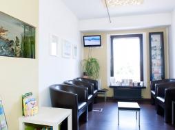 Wartezimmer der Zahnarztpraxis Aalai in Fürth